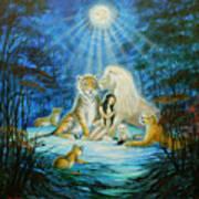 Feline Family... Love Art Print