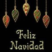 Feliz Navidad Spanish Merry Christmas Art Print