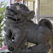 Female Chinese Guardian Lion Art Print