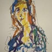Female Face Study Bb Art Print