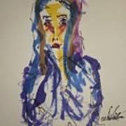 Female Face Study I Art Print