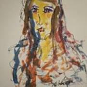 Female Face Study L Art Print