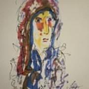 Female Face Study N Art Print