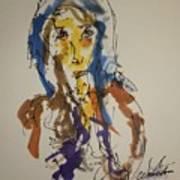 Female Face Study T Art Print