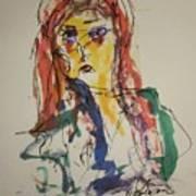 Female Face Study V Art Print