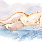 Female Nude 04 Art Print