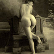 Female Nude, Circa 1900 Art Print