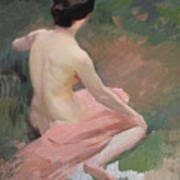 Female Nude Art Print by Jules Ernest Renoux