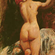 Female Nude Seen From The Back Art Print