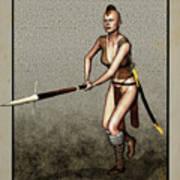 Female Pike Guard - Warrior Art Print