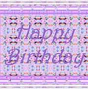 Feminine Lavender Birthday Card Art Print