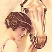 Feminine Rider Art Print
