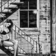 Feminine Stairwell Art Print