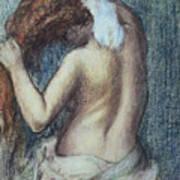 Femme A Sa Toilette Art Print by Edgar Degas