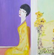 Femme En Jaune Art Print
