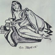 Femme En Misere Art Print
