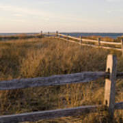 Fence Along The Dunes - Madaket - Nantucket Art Print