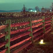 Fence And Luminaries 11 Art Print