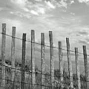 Fence At Jones Beach State Park. New York Art Print