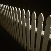 Fence Bw Art Print