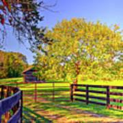 Fence Pasture And Barn 1721 Art Print