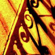 Fence Shadows 5 Art Print