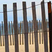 Fenced Off Beach Art Print