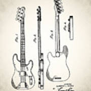 Fender Precision Bass Patent 1952 Art Print