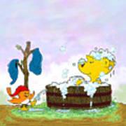 Ferald's Bubble Bath Art Print