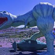 Ferious Dinosaur Trex Art Print