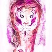 Ferocious Cat Art Print