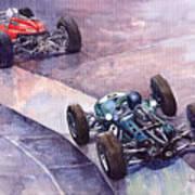 1964 Ferrari 158 Vs Brabham Climax German Gp 1964 Art Print