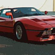 Ferrari 288 Gto - Powerslide Art Print