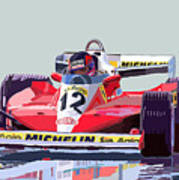 Ferrari 312 T3 1978 Canadian Gp Art Print