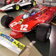 Ferrari 312t4 Front Left Museo Ferrari Art Print