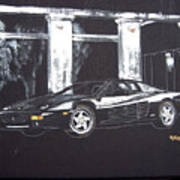 Ferrari 348 Gtr Testarrossa Art Print