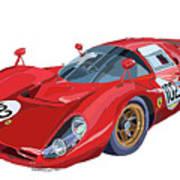 Ferrari 412p 330 P4 1967 Le Mans Art Print