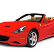 Ferrari California Art Print