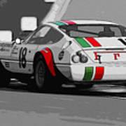 Ferrari Daytona 365 Gtb4 - Italian Flag Livery Art Print