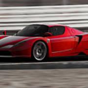 Ferrari Enzo - Rosso Corsa Art Print