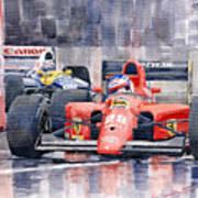 1991 Ferrari F1 Jean Alesi Phoenix Us Gp Arizona 1991 Art Print