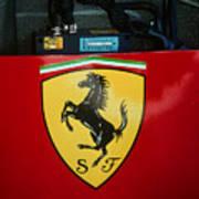 Ferrari F1 Sidepod Emblem Art Print