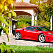 Ferrari F430 On Adv1 Wheels 2 Art Print