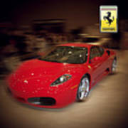 Ferrari F430 - The Red Beast Art Print