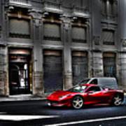 Ferrari In Rome Art Print