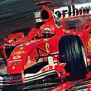 Ferrari - Michael Schumacher  Art Print