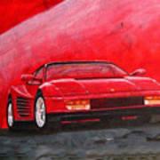 Ferrari Testarrossa Art Print