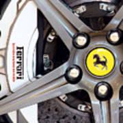 Ferrari Wheel Op 121915 Art Print