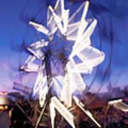 Ferris Wheel At Dusk-2 Art Print