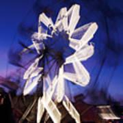 Ferris Wheel At Dusk Art Print